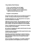 1 Step Addition Word Problems Center