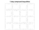 1 Step Compound Inequalities Fun Square Puzzle