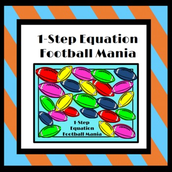 One Step Equations: Football Mania Interactive Game