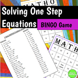 One Step Equations BINGO Game