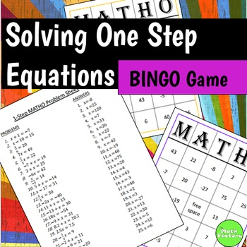 One Step Equations BINGO Game