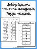 One Step Equations Puzzles (with Rational Coefficients)