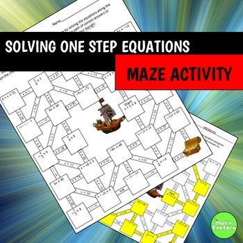 One Step Equations Maze Activity
