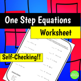 1 Step  Equations - SELF CHECKING!!!