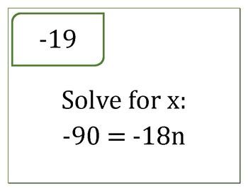 1-Step Equations Scavenger Hunt