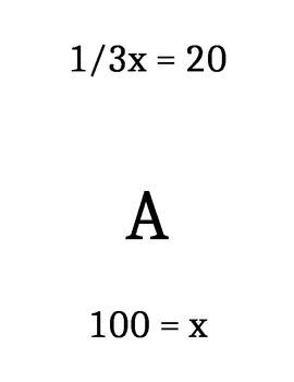 1 Step Equations Scavenger Hunt