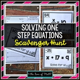 One Step Equations: Scavenger Hunt