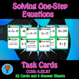1 Step Equations Task Cards