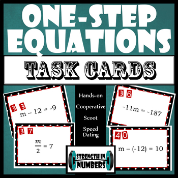 One-Step Equations Task Cards Scoot Speed Dating Partner Activity