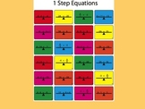 1 Step Equations Worksheet (Color)