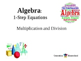 1-Step Equations with Multiplication & Division