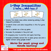 1-Step Inequalities: I Have...Who Has...?