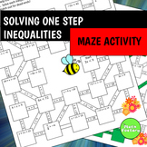 One Step Inequalities Maze Activity