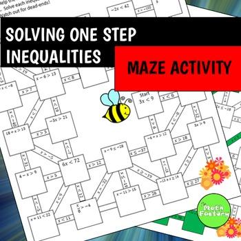 One Step Inequalities Maze Activity