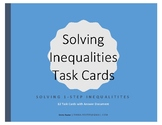 1-Step Inequalities Task Cards (With Negatives)