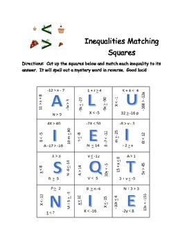 1-Step Inequality Matching