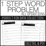 1 Step Word Problems - IEP data tracking, progress monitoring