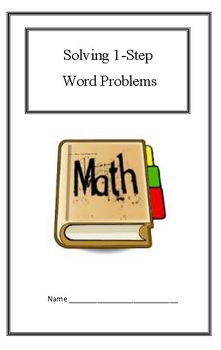 (2.OA.1)1-Step Word Problems Response Booklet - 2nd Grade