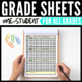 1-Student Grade Sheets Editable Grade Sheets for Single Student