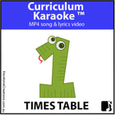 1 TIMES TABLE (Pre K-3) ~ Read, Sing & Learn Video