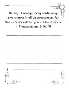 1 Thessalonians 5:16 copy work