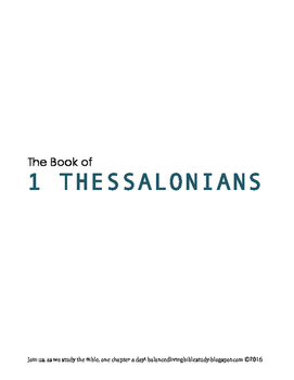 1 Thessalonians WORD Guide