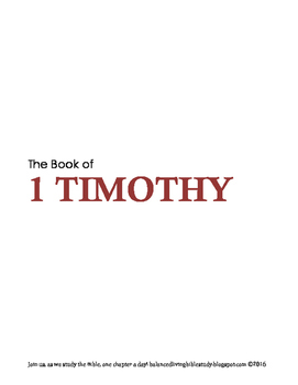 1 Timothy WORD Guide