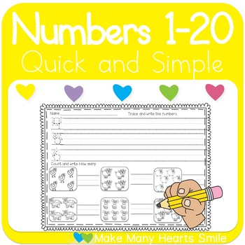 1 To 20 Trace and Count with Farm Animals