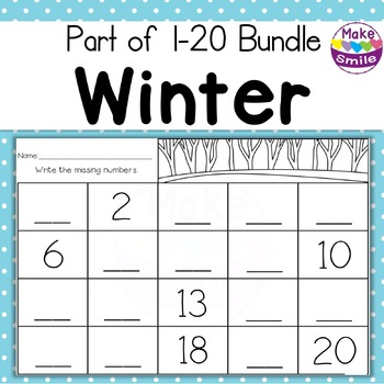 1 To 20 Trace and Write Worksheets