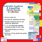 1-Variable Equations & Inequalities Activity Bundle