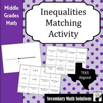 Inequalities Matching Activity