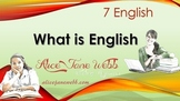 Grade 7 English - How English has Evolved