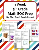 1 Week 5th Grade Math EOG Prep