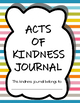 Acts of Kindness Journal - Week 1 for Free