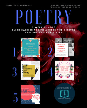 6-7 Day Poetry Unit Bundle