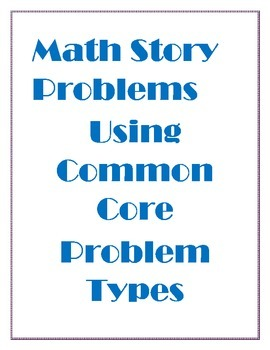 1 Week of Common Core Story Problems