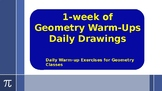 1-Week of Daily Geometry Drawings (Warm-up Activities)
