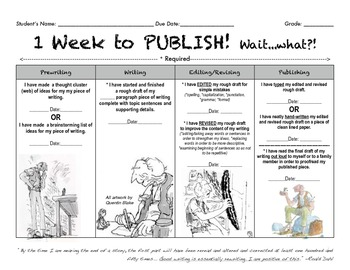 1 Week to Publish! Writing Process in Layer Format.