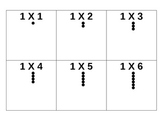 1 X 1 Up To 12 X 12 Multiplication Flash Cards with Arrays