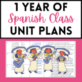 1 Year of Spanish Class Unit Plans