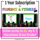 1 Year Subscription to Fluency & Fitness® Brain Breaks