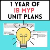 1 Year of IB MYP Y1 Unit Plans
