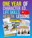1 Year's Character, Health + Life Skills Ed Grades 7-8