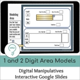 1 and 2 Digit Area Models | Digital Visual Models