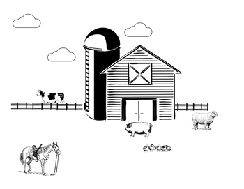 1 and 2 Step Following Directions with Basic Concepts, Farm Animals