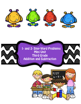 1- and 2- Step Word Problems Addition and Subtraction (Bundled) Mini-Unit