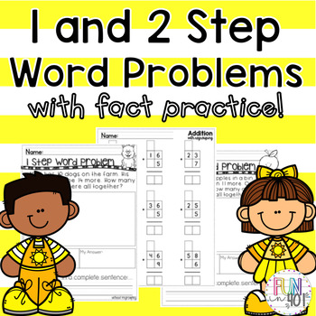 1 and 2 Step Word Problems and Fact Practice !