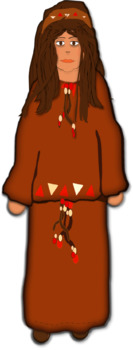 1 clipart image - Native American Indian girl