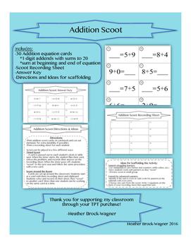 1-digit Addition Scoot