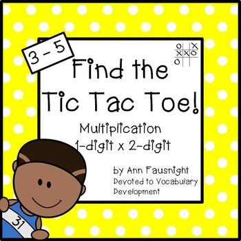 1-digit x 2-digit Multiplication: Find the Tic Tac Toe